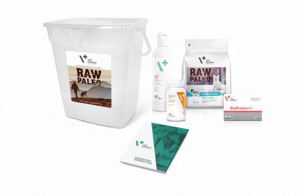 VetExpert Raw Paleo Large Breed Puppy Starter Kit Premium getreidefreies Hundefutter, Alleinfuttermittel, Trockenfutter, Nassfutter, Hundebedarf, Hundenahrung, Hundeernährung
