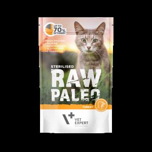 VetExpert Raw Paleo Sterilised Truthahn - Nassfutter für kastrierte Katzen Premium getreidefreies Katzenfutter, Alleinfuttermittel, Trockenfutter, Nassfutter, Katzenbedarf, Katzennahrung, Katzenernährung