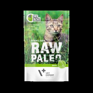 VetExpert Raw Paleo Sterilised Wild - Nassfutter für kastrierte Katzen Premium getreidefreies Katzenfutter, Alleinfuttermittel, Trockenfutter, Nassfutter, Katzenbedarf, Katzennahrung, Katzenernährung