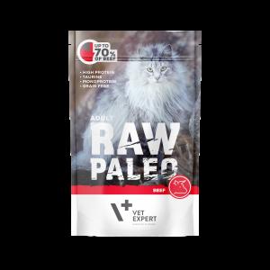 VetExpert RawPaleo Katze Adult Katzenfutter Rind Premium getreidefreies Katzenfutter, Alleinfuttermittel, Trockenfutter, Nassfutter, Katzenbedarf, Katzennahrung, Katzenernährung